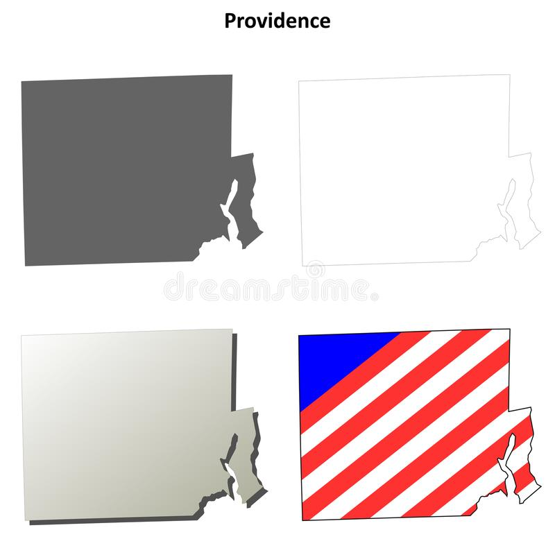 El condado de Providence, sistema del mapa del esquema de Rhode Island libre illustration