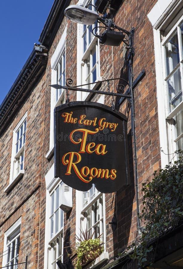 El conde Grey Tea Rooms en York fotografía de archivo