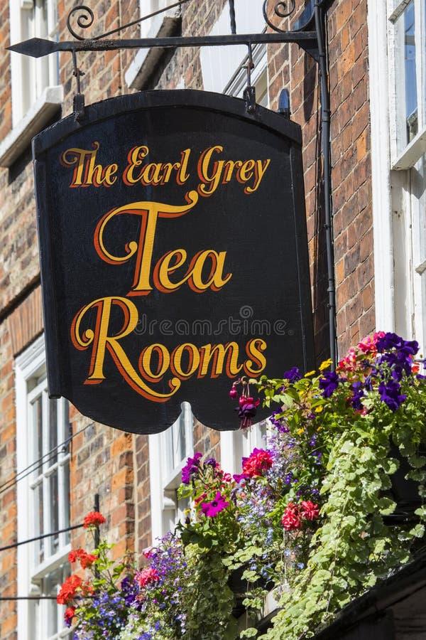El conde Grey Tea Rooms en York foto de archivo libre de regalías