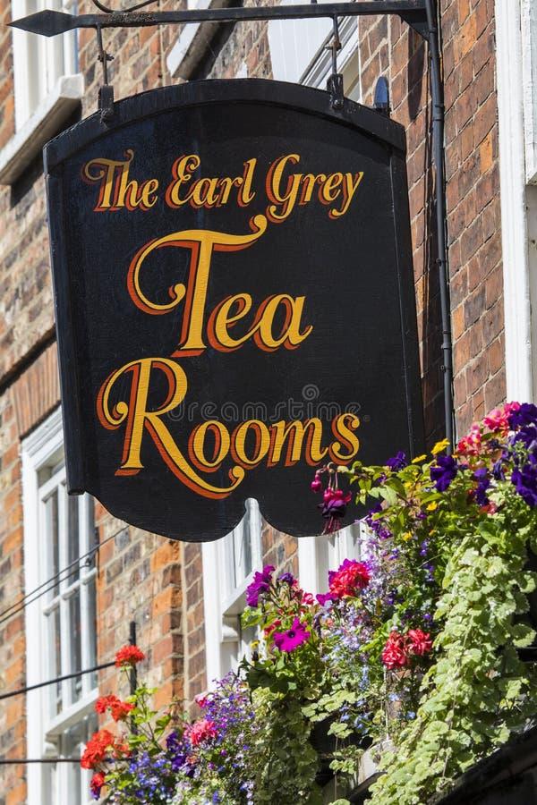 El conde Grey Tea Rooms en York fotos de archivo