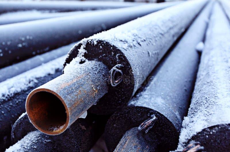 El conducto de la industria del tubo de alcantarilla canaliza industria industrial de vivienda de la casa del equipo foto de archivo libre de regalías
