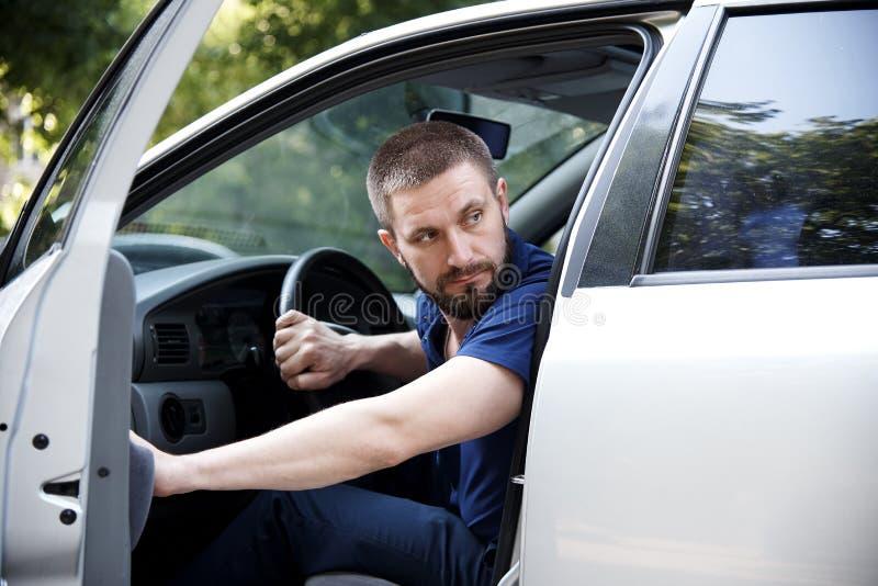 El conductor del coche imágenes de archivo libres de regalías