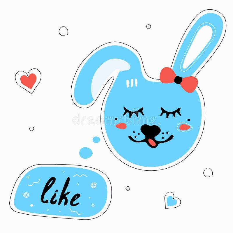 el conejo con la burbuja del discurso tiene gusto libre illustration