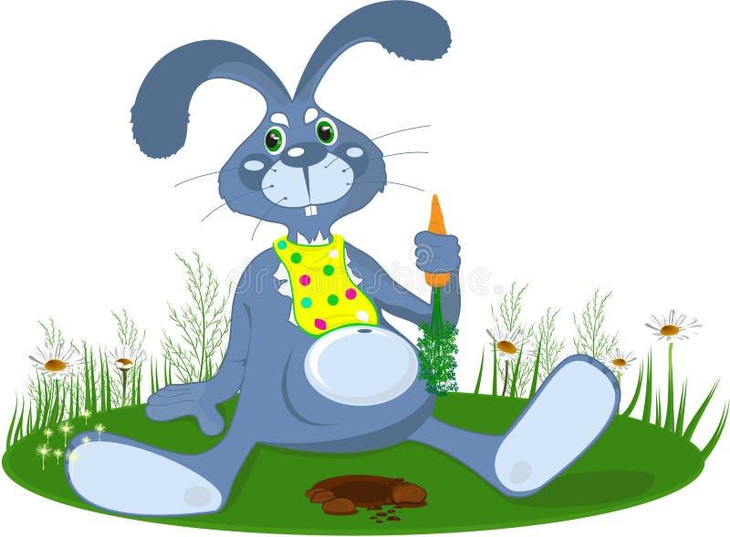 el conejo con la zanahoria ilustración del vector