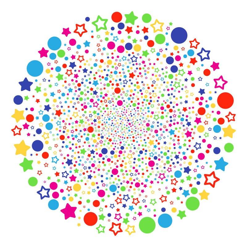 El confeti protagoniza la esfera de la explosión ilustración del vector