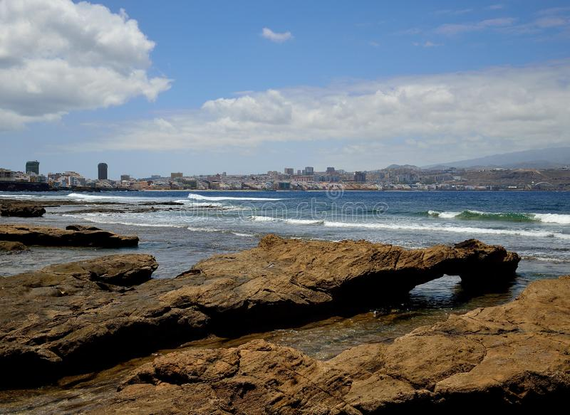 EL Confital, Las Palmas de Gran Canaria lizenzfreies stockbild