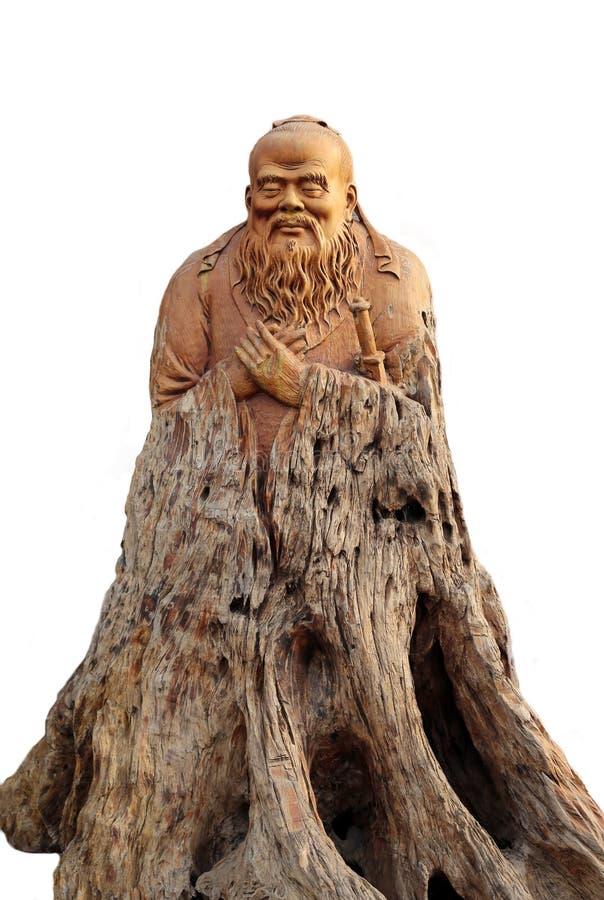 El woodcarving de Confucio tiene gusto imagen de archivo