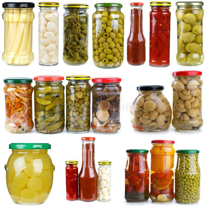 El conjunto de diversos frutas y vidrio del vegetablesin sacude imagen de archivo