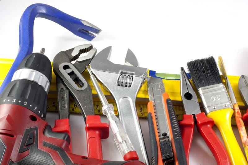 El conjunto de herramientas lo hace usted mismo imágenes de archivo libres de regalías