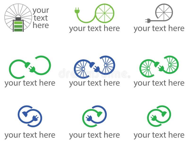 El conjunto de la bici 9 relacionó insignias o símbolos imagenes de archivo