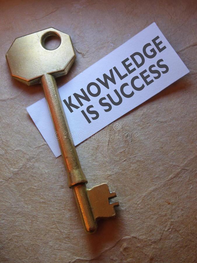El conocimiento es éxito foto de archivo