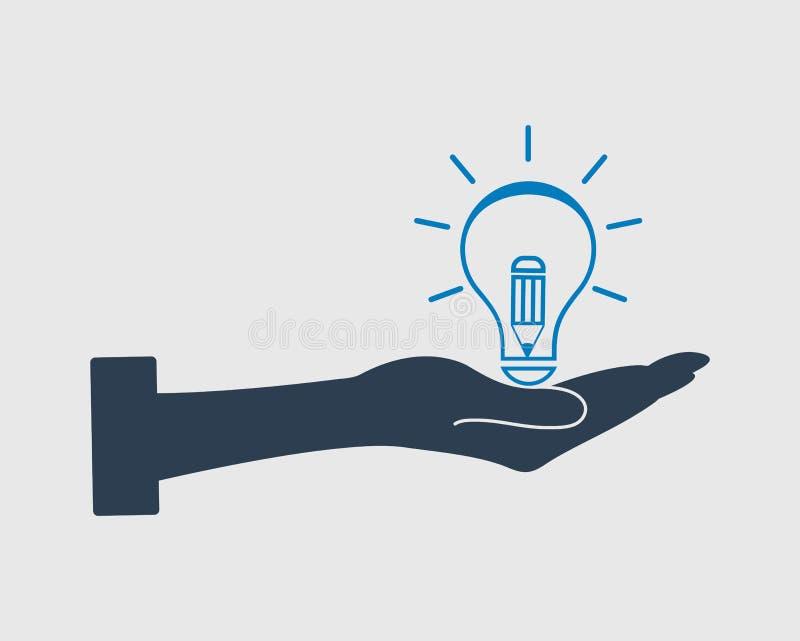 El conocimiento es icono del poder libre illustration