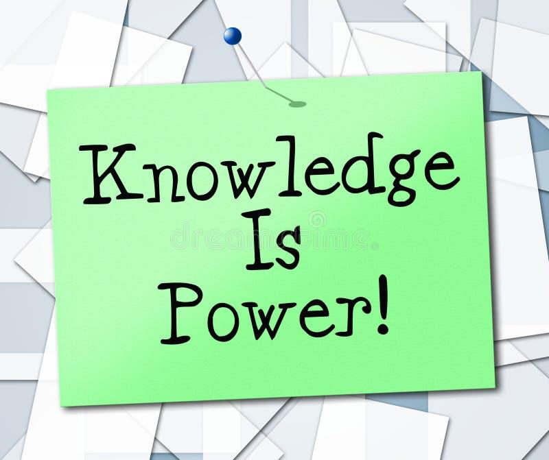 El conocimiento es poder representa la Universidad y estudiar ilustración del vector