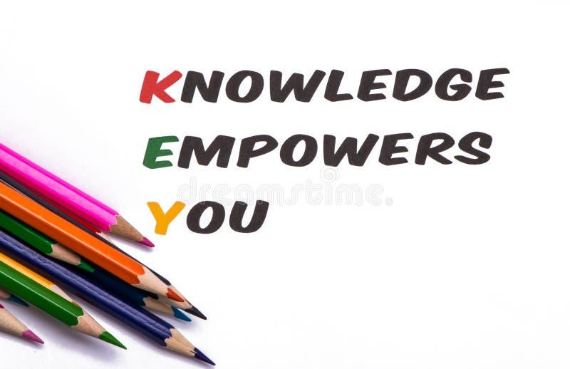 El conocimiento le autoriza imagen de archivo libre de regalías