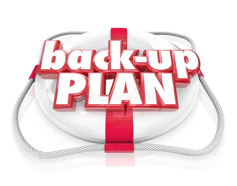 El conservante de vida de respaldo del plan redacta el planeamiento alterno B ilustración del vector