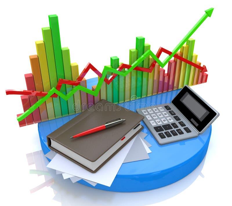 El considerar - cálculo de negocio ilustración del vector