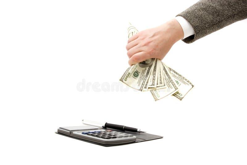 El considerar y finanzas imagen de archivo libre de regalías