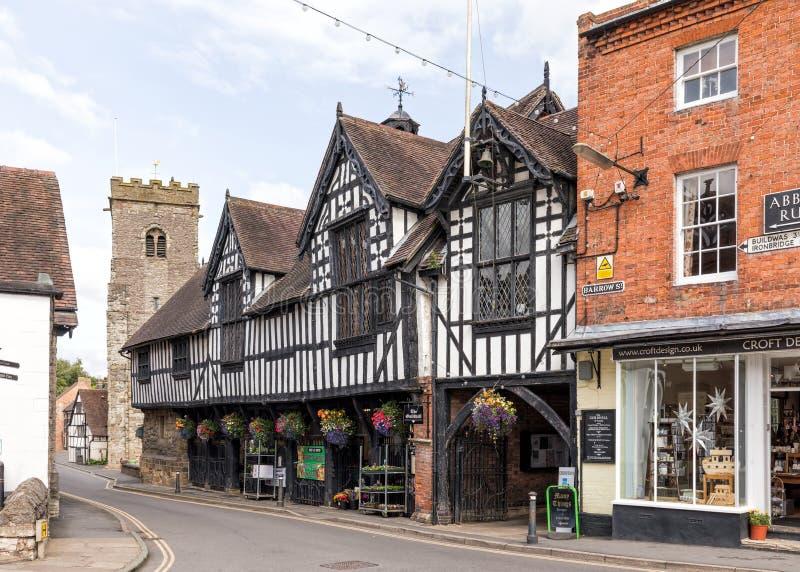 El consistorio, mucho Wenlock, Shropshire imagenes de archivo
