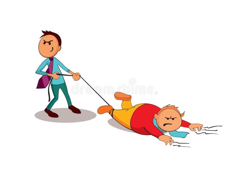 El consultor del encargado está haciendo al cliente para hacer un trato Uno de una serie de imágenes similares stock de ilustración