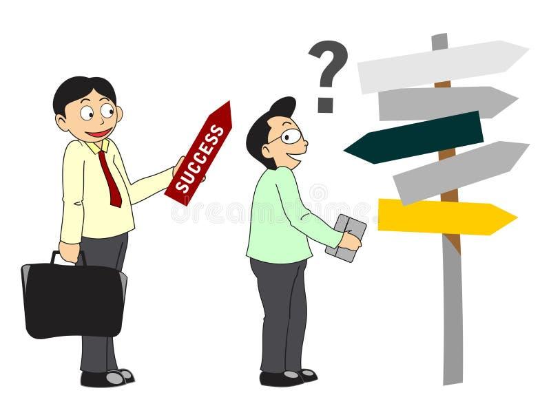 El consultor muestra la manera al éxito libre illustration