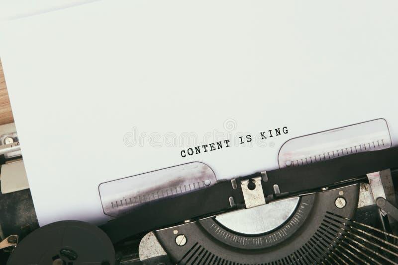 El contenido es rey imagen de archivo