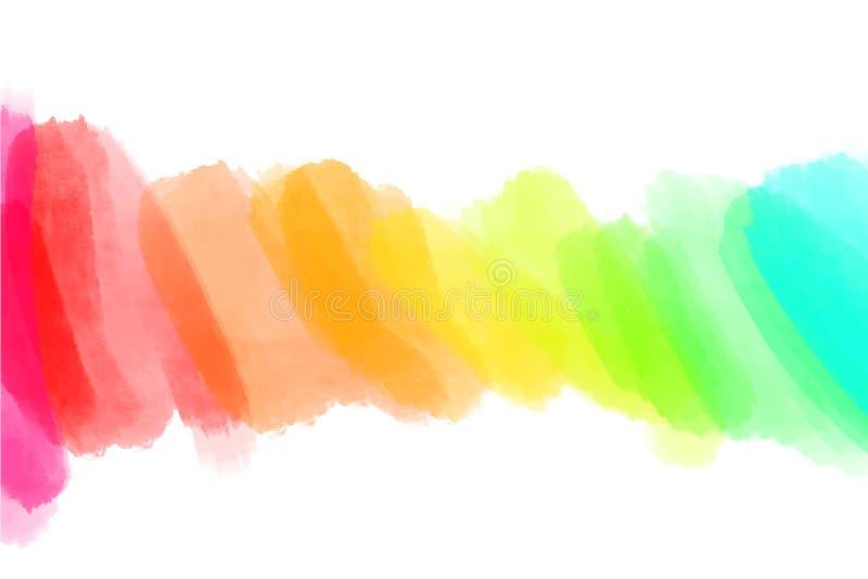 El contexto artístico, vector con el cepillo frota ligeramente los diversos colores, fondo de la mirada de la acuarela con las ma libre illustration