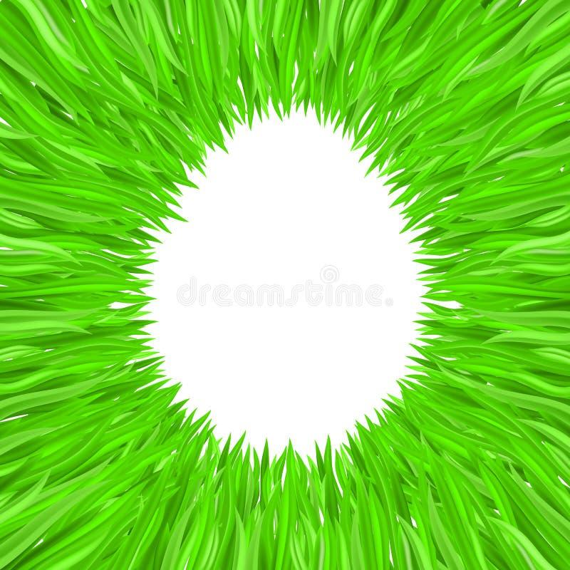 El contorno del huevo de la hierba stock de ilustración