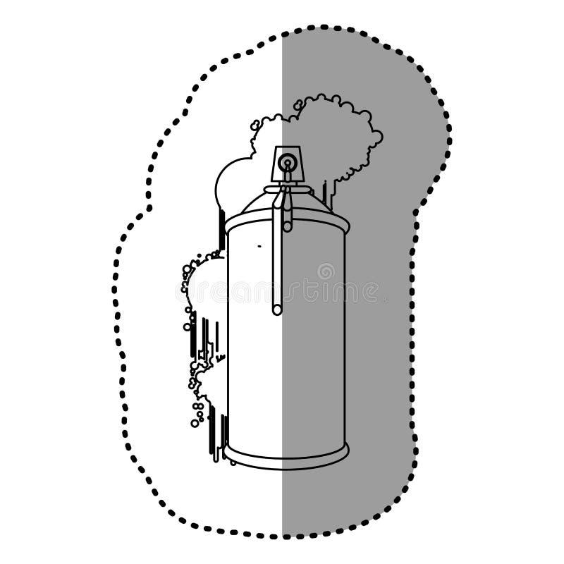 el contorno puede icono de los esprayes de aerosol ilustración del vector