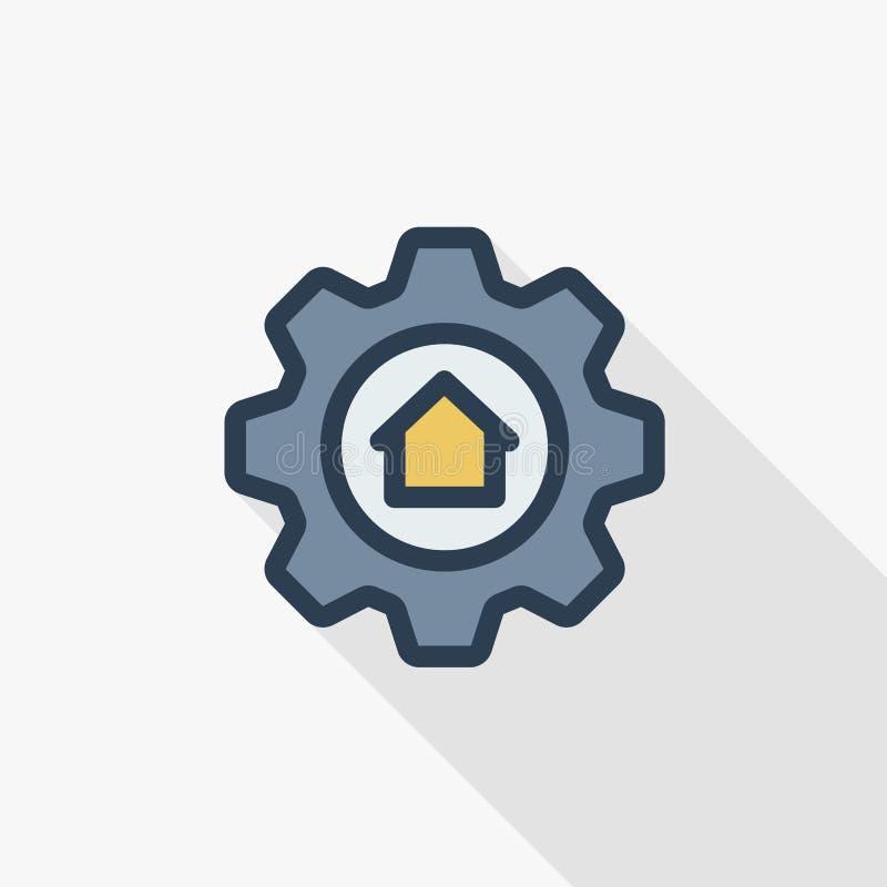 El control móvil casero elegante y la organización puesta del icono de dispositivos electrónicos alinean ligeramente el icono pla libre illustration