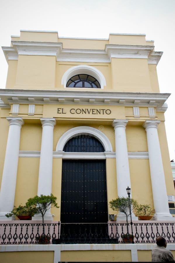 El Convento旅馆,老圣胡安,波多黎各 库存照片