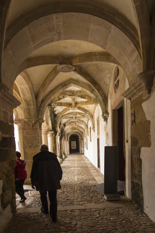El convento de Cristo es un monasterio católico anterior adentro a imagen de archivo libre de regalías