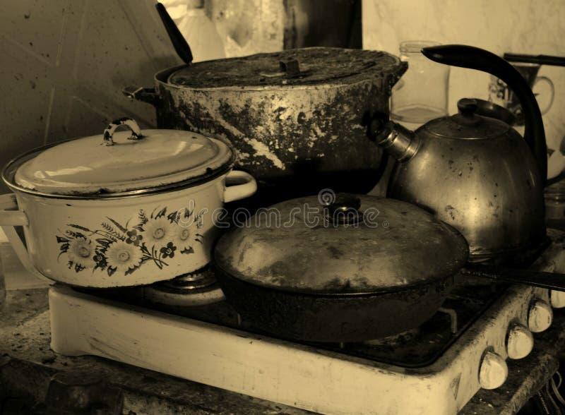 El Cookware no es una estufa imágenes de archivo libres de regalías