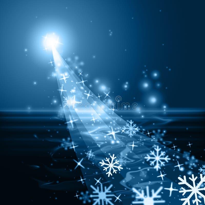 El copo de nieve del resplandor muestra el hielo Crystal And Blazing libre illustration