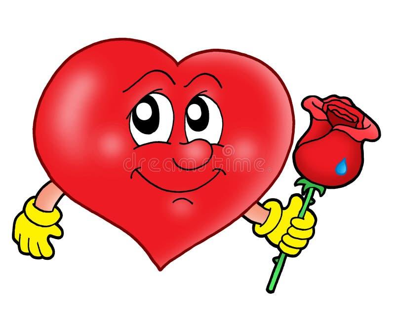 El corazón con se levantó libre illustration