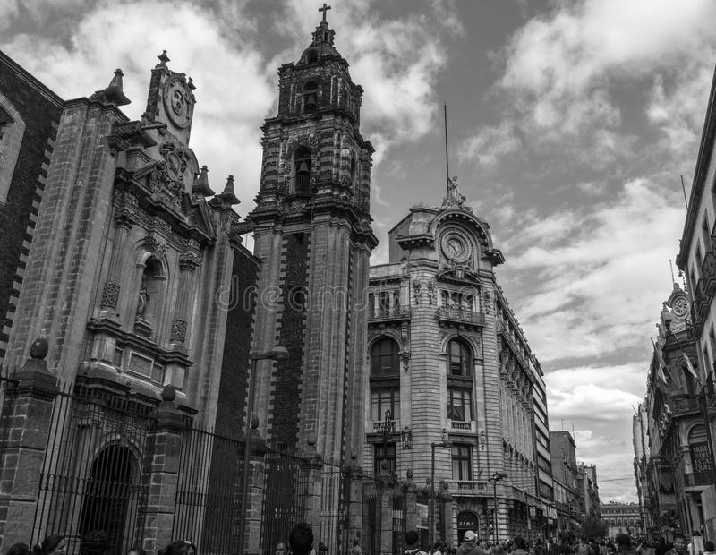 El corazón de Ciudad de México imagen de archivo libre de regalías
