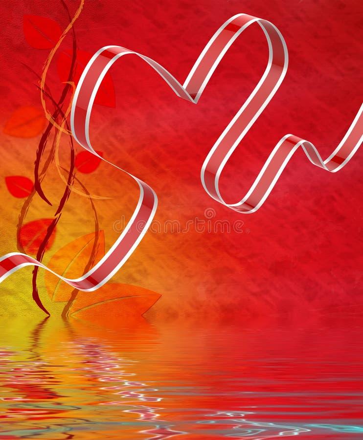 El corazón de la cinta exhibe el afecto y la atracción del amor stock de ilustración