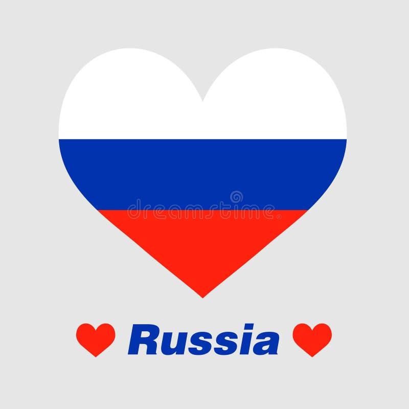 El corazón de Rusia stock de ilustración
