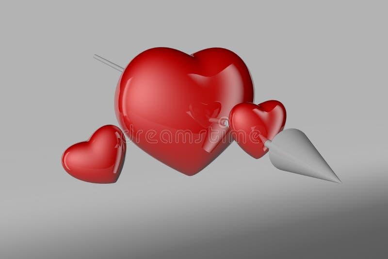 El corazón del amor fotografía de archivo