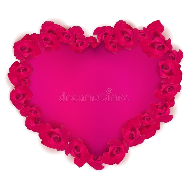 El corazón del rosa del vector afiló con las rosas rojas EPS 10 libre illustration