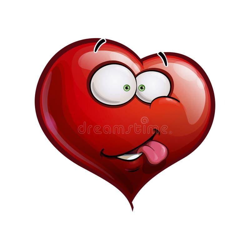 El corazón hace frente a los Emoticons felices - I realmente como usted libre illustration
