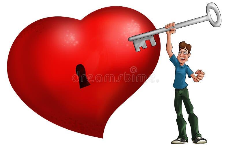 El corazón rojo grande stock de ilustración