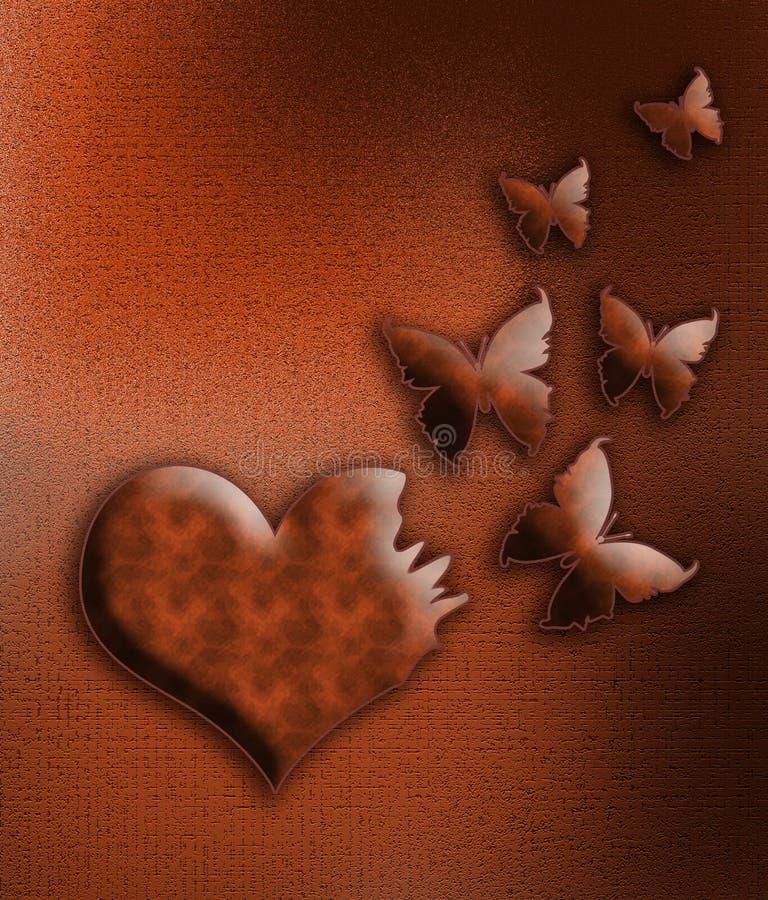 El corazón se convierte en mariposa libre illustration