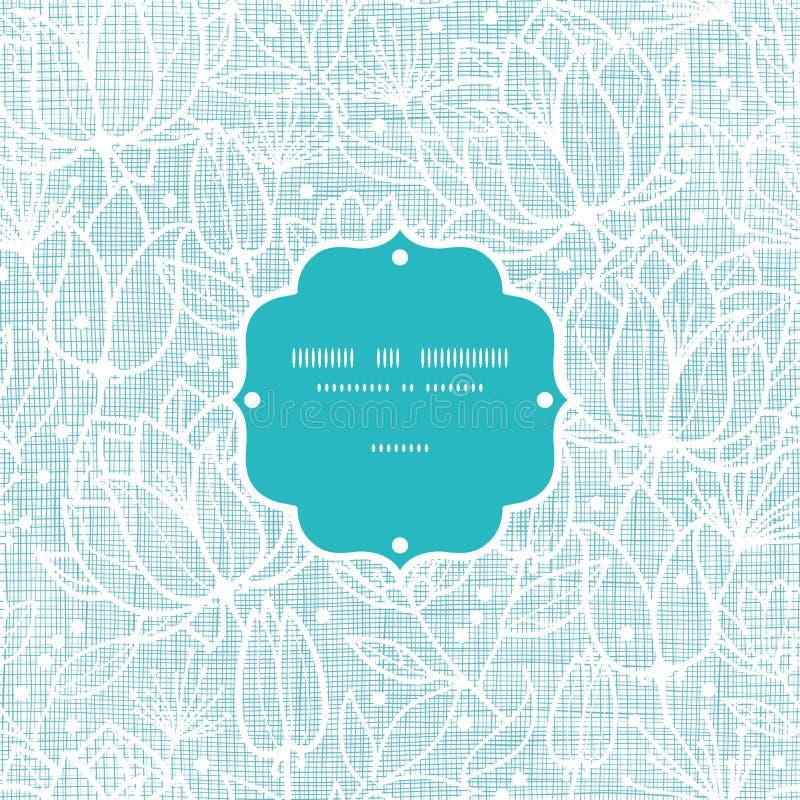 El cordón azul florece el modelo inconsútil del marco de la materia textil stock de ilustración