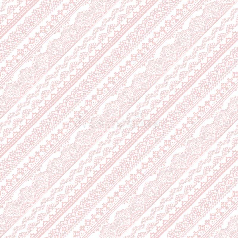 El cordón rosado raya el modelo stock de ilustración