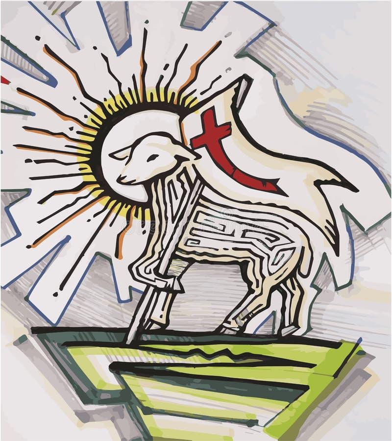 El cordero de dios ilustración del vector
