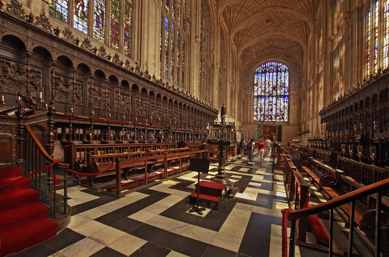 El coro atasca a reyes College Chapel imagen de archivo
