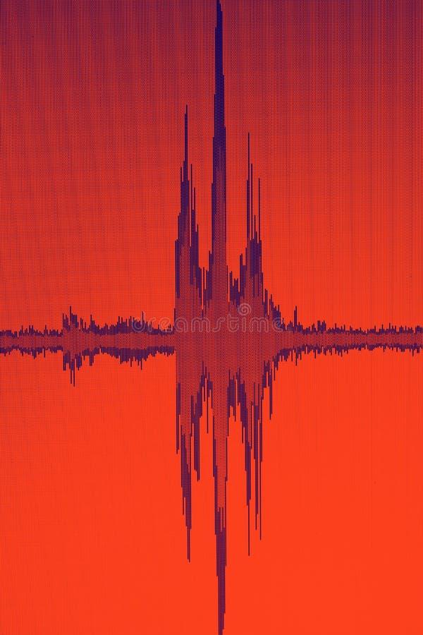 El corregir audio del estudio de la onda acústica imagen de archivo libre de regalías