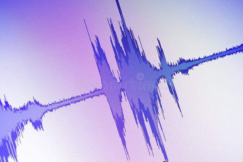 El corregir audio del estudio de la onda acústica foto de archivo