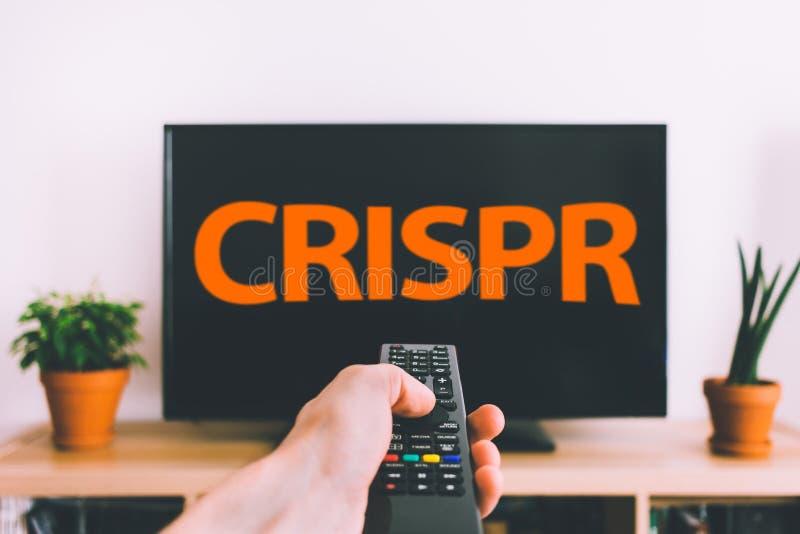 El corregir del genoma de CRISPR imagenes de archivo