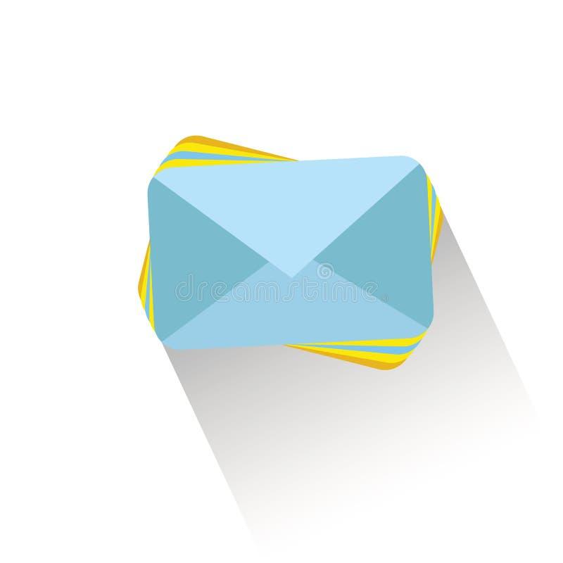 El correo electrónico envía el ejemplo del vector del concepto Muchos mensajes entrantes o correos electrónicos marcados por dive stock de ilustración